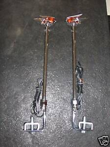 Vintage Style Fender Guide In Amber With Led Light Cars Truck 1 Pair Amber