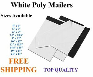5 3000 White Poly Mailers Shipping Envelopes Self Sealing Plastic Mailing Bags