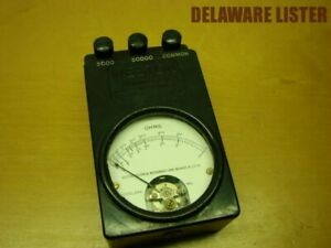 Vintage Weston Ohm Meter Test Ohmmeter Model 689 Tester Portable Steam Punk