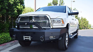 New Steelcraft Smooth Plate Winch Mount Front Bumper 10 18 Dodge Ram 2500 3500