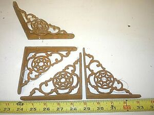 4 Small Old Antique Style Shelf Bracket Hall Tree Base Craft Porch Corbel