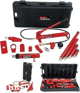 New Porto power Black red Hydraulic Car Body Repair 19 Piece Kit 10 Ton Capacity