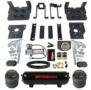 Air Bag Tow Kit Black Controls Compressor Tank For 2011 16 Ford F250 F350 4x4