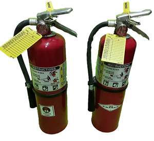 Fire Extinguisher 10 Lb Abc Dry Chemical Lot Of 2 scratch dent