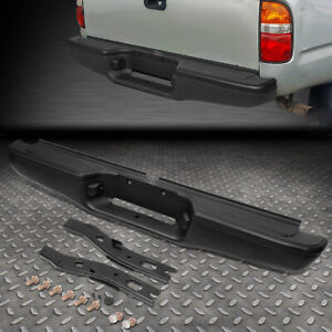 For 95 04 Toyota Tacoma Stainless Steel Rear Step Bumper Face Bar Primed Black