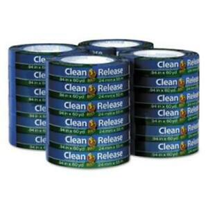 Duck 284371 0 94 In X 60 Yds Clean Release Painters Tape Blue 24 Per Pack