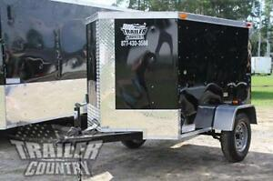 New 2020 4x6 4 X 6 V nosed Enclosed Cargo Motorcycle Bike Trailer
