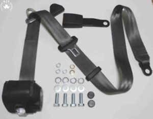 Three Point Automatic Seat Belt Mg Mga Mgb Td And Others Grey New 22cm Gekroe
