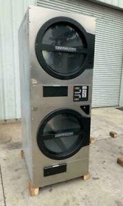 American Dryer Adc Adg330d Stack Dryer 30lb Stainless S n 472455cc ref