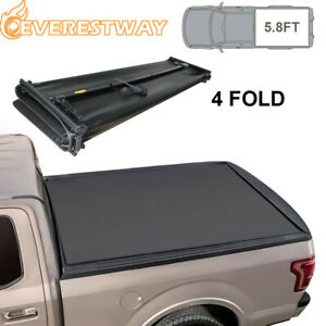 5 8 4fold Tonneau Cover Truck Bed For 2007 13 Chevy Silverado Gmc Sierra 1500