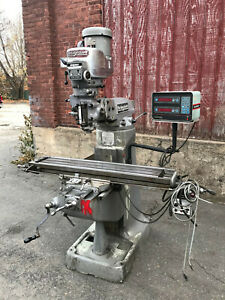Bridgeport Milling Machine 2hp 3 Phase 48 Table