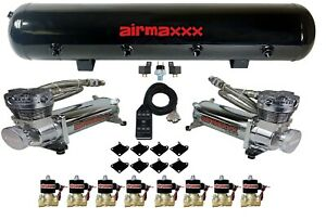 Airmaxxx Chrome 480 Air Compressors 1 2 Valves Air Ride Black 7 Switch Tank