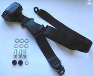 Three Point Automatic Seat Belt Rear Mg Mga Mgb Td And Others Black