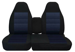 Front Set Car Seat Covers Fits Ford Ranger 1991 2012 60 40 Highback Black navy