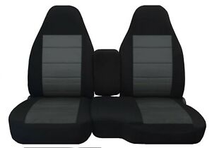 Front Set Car Seat Covers Fits Chevy Colorado 2004 2012 60 40 Highback