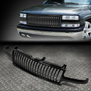 For 99 02 Silverado 00 06 Tahoe Suburban Badgeless Front Bumper Grille Glossy