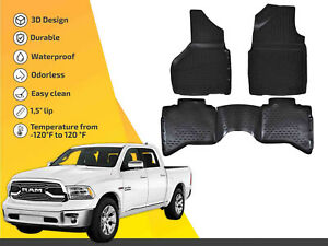3d Floor Liner Mats Tpe For Dodge Ram 1500 2500 3500 2012 2018 4pc Full Set