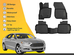 3d Floor Liner Mats Tpe For Ford Fusion 2013 Up Lincoln Mkz 2013 Up 4pc