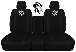 Designcovers 40 20 40 Seat Covers Fits 2011 2018 Ram solid Blk W Side Ram Design