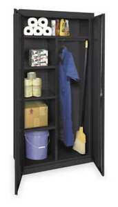 Zoro Select 1uey9 Comb Storage Cabinet blk 78 In H 36 In W