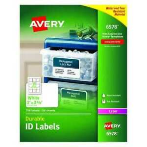 Avery 727826578 Avery White Permanent Durable Id Labels For Laser Printers