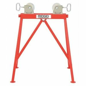 Ridgid 64642 Roller Head Pipe Stand 2 To 36 In