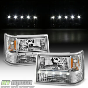 1993 1998 Jeep Grand Cherokee 6in1 Led Drl Headlights Corner Bumper Lights 93 98