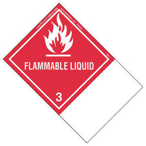 Labelmaster Etsnt6 Flammable Liquid Label 100mmx150mm 500
