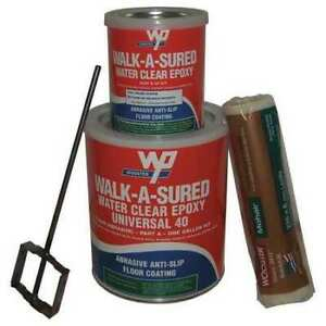 Wooster Products Was40 clr 1 Gal Kit Anti slip Floor Coating Epoxy Clear