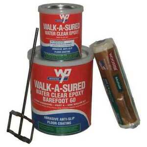 Wooster Products Was60 clr 1 Gal Kit Anti slip Floor Coating Epoxy Clear