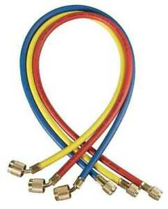 Yellow Jacket 22986 Manifold Hose Set 72 In red yellow blue