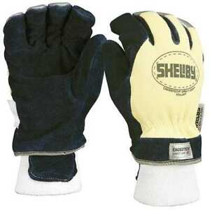Shelby 5284xl Firefighters Gloves xl cowhide Lthr pr