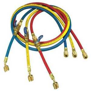 Yellow Jacket 25985 Manifold Hose Set 60 In red yellow blue