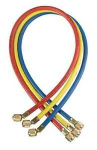 Yellow Jacket 21983 Manifold Hose Set 36 In red yellow blue