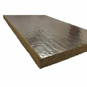 Roxul 40260 1 X 48 X 24 Mineral Wool foil Backing High Temperature Insulation