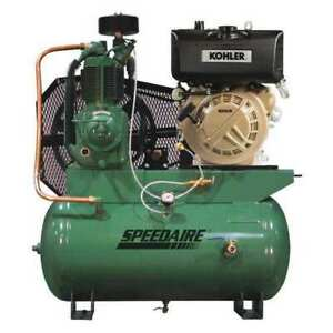 Speedaire 40jj58 Stationary Air Compressor 9 1 Hp kohler