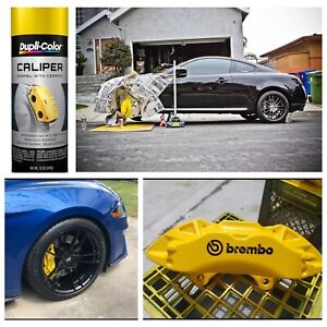 Yellow Coating Caliper Brake Rotor Paint High Heat Engine Enamel Hot Temp Spray