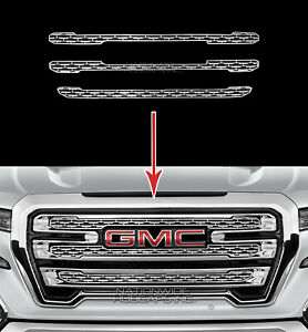 19 20 Gmc Sierra 1500 Slt At4 Chrome Snap On Grille Overlay Grill Covers Inserts