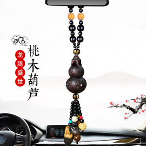 Car Hanging Ornament Auto Gourd Pendants Mahogany Charms Rearview Mirror Decor