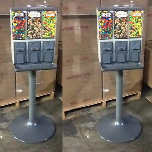 2 Used Vendstar 3000 Vend 3 Candy Vending Machines With Locks And Keys
