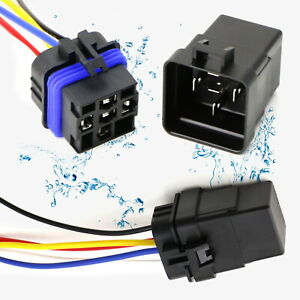 12v 40 30a Waterproof 5 Pin Spdt Mini Relay W Watertight Connector And Pigtail