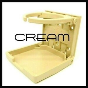 1 Cream Beige Ecru Folding Folding Car Auto Beverage Drink Cup Holder Cupholder