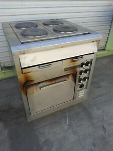 Toastmaster Electric Range Stainless Steel Convection Oven W 4 Hot Plate