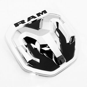 New 2019 Dodge Ram Chrome Tailgate Ram S Head Emblem Medallion Oem Mopar