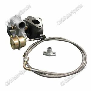 Gt15 T15 Turbo Charger For Motorcycle Atv Bike Oil Feed Drain Flange Fitting Kit