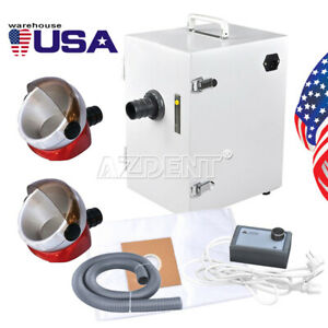 Dental Lab Digital Single row Dust Collector Vacuum Cleaner 2x Suction Base Us