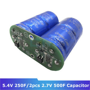 Super Farad Capacitors 2pcs set 2 7v 500f Super Capacitor With Protection Board