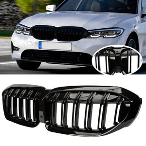 Front Kidney Grille Grill Double Slat For Bmw 3 Series G20 330i Xdrive 2019 2020