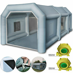 26x15x10ft Inflatable Spray Booth Paint Tent Mobile Portable Car Workstation Usa