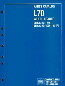 Volvo Huge L70 Wheel Loader Parts Manual new See Picture For Serial Numbers
